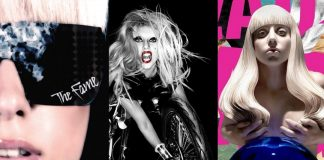 3 lady gaga album covers