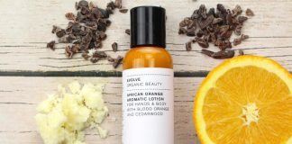 featured lotion with orange