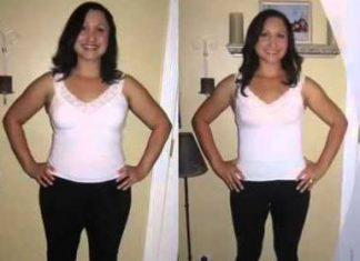 before and after of woman who lost weight